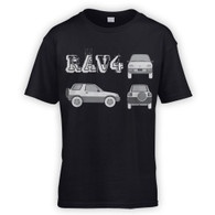 Rav4 Blueprint Kids T-Shirt