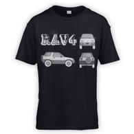 Rav4 Blueprint Kids T-Shirt