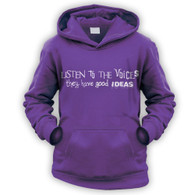 Listen to the Voices Kids Hoodie