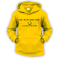 They Are Not Horse Hairs Kids Hoodie