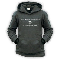 They Are Not Ferret Hairs Kids Hoodie