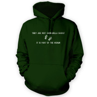 They Are Not Chinchilla Hairs Hoodie