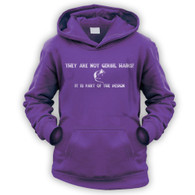 They Are Not Gerbil Hairs Kids Hoodie