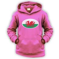 Welsh Flag Kids Hoodie