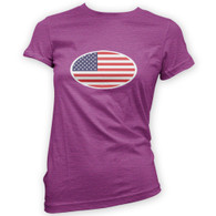 American Flag Woman's T-Shirt
