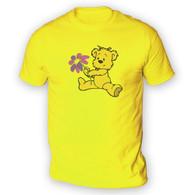 Cute Flower Bear Mens T-Shirt