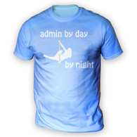 Admin by Day Pole Dancer by Night Mens T-Shirt