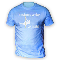 Mechanic by Day Pole Dancer by Night Mens T-Shirt