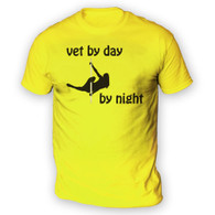 Vet by Day Pole Dancer by Night Mens T-Shirt