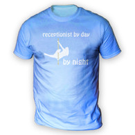 Receptionist by Day Pole Dancer by Night Mens T-Shirt