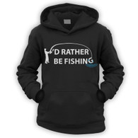 I'd Rather Be Fishing Kids Hoodie
