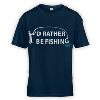 I'd Rather Be Fishing Kids T-Shirt
