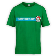 Powered By Mushroom Kids T-Shirt