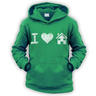I Love House Music Kids Hoodie