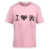 I Love House Music Kids T-Shirt