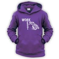 Work Rest MotoCross Kids Hoodie
