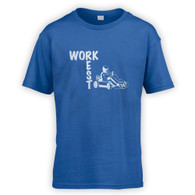 Work Rest Go Kart Kids T-Shirt