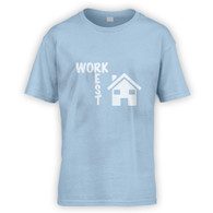 Work Rest House Music Kids T-Shirt