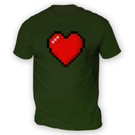 16 Bit Heart Mens T-Shirt