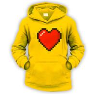 16 Bit Heart Kids Hoodie