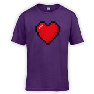 16 Bit Heart Kids T-Shirt