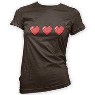 Trio of 16 Bit Hearts Woman's T-Shirt