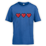 Trio of 16 Bit Hearts Kids T-Shirt