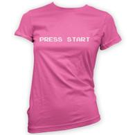 Press Start Womans T-Shirt