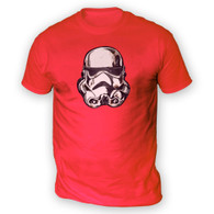 Battle Damaged Helmet Mens T-Shirt