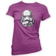Battle Damaged Helmet Womans T-Shirt