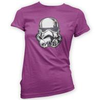 Battle Damaged Helmet Womans T-Shirt