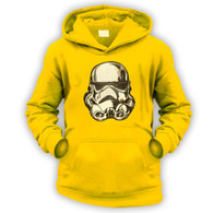 Battle Damaged Helmet Kids Hoodie