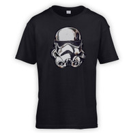 Battle Damaged Helmet Kids T-Shirt