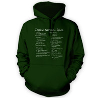 List of Zombie Rules Hoodie