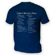 List of Zombie Rules Mens T-Shirt