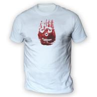 Volleyball Hand Print Mens T-Shirt