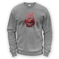 Volleyball Hand Print Sweater
