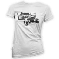 Ratlook Hot Rod Pickup Womans T-Shirt