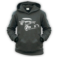 Ratlook Hot Rod Pickup Kids Hoodie