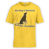 My Dog is Butt Ski Champ Kids T-Shirt