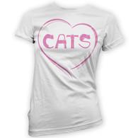 Love Cats Womans T-Shirt