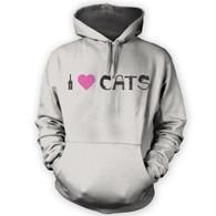 I Love Cats II Hoodie