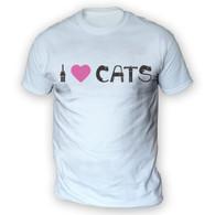 I Love Cats II Mens T-Shirt