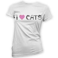 I Love Cats II Womans T-Shirt