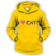I Love Cats II Kids Hoodie
