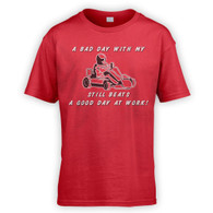 Bad Day With My Go Kart Beats Work Kids T-Shirt