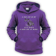 Bad Day On My Motocross Beats Work Kids Hoodie