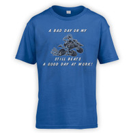 Bad Day On My Quad Bike Beats Work Kids T-Shirt