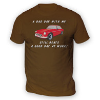 Bad Day With My MGBGT Beats Work Mens T-Shirt