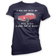 Bad Day With My MGBGT Beats Work Womans T-Shirt